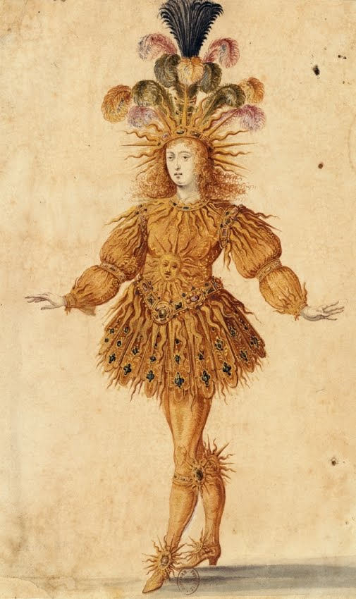 Louis XIV as the Sun in Le Ballet de la Nuit by Henri Gissey, 1653. Importance of Pirouettes. marchmatron.com