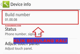 Cara aktifkan developer Option di Android