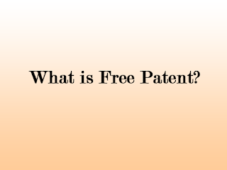 what is free patent