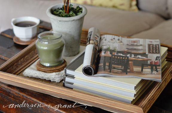 How to make a reclaimed wood tray from a picture frame | www.andersonandgrant.com