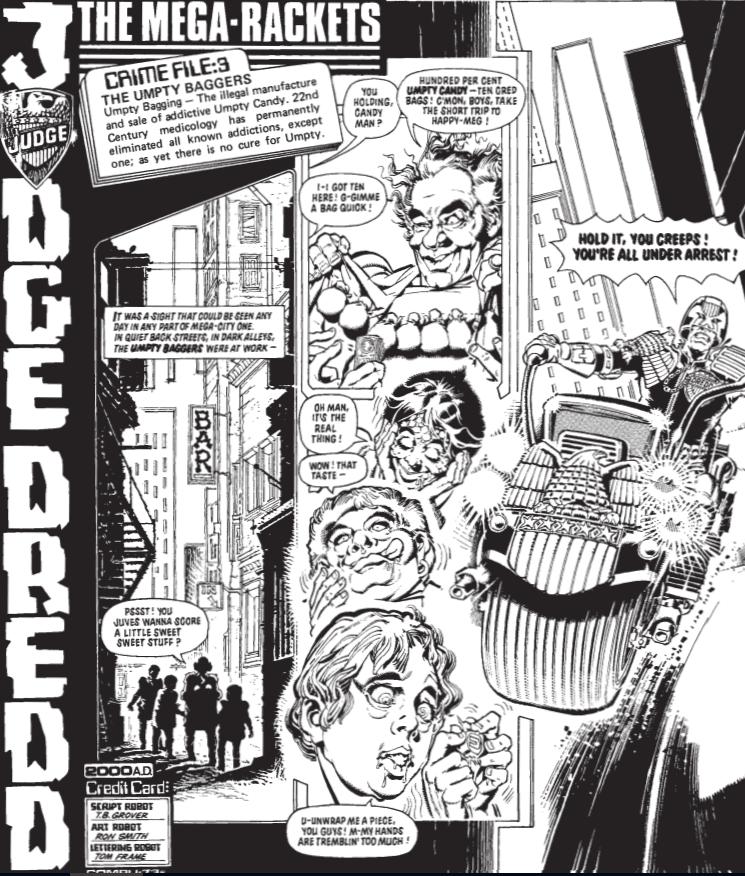 Dredd Alert: Judge Dredd: The Mega-Rackets, Crime File: 3