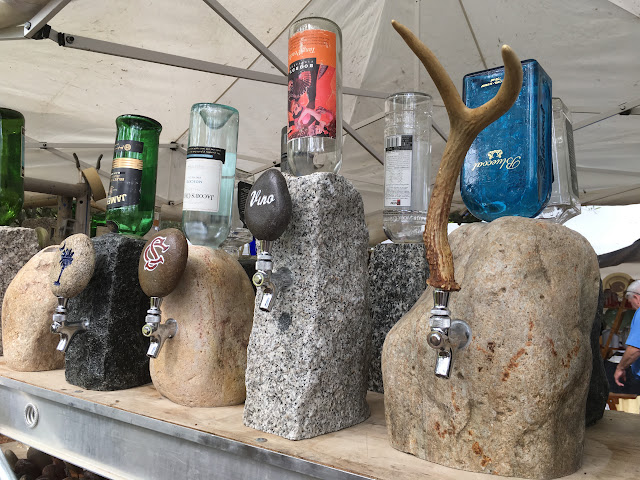 Custom Garden Rocks Whiskey or Wine Rock Dispenser at Summerville Flowertown Festival 2017 | The Lowcountry Lady