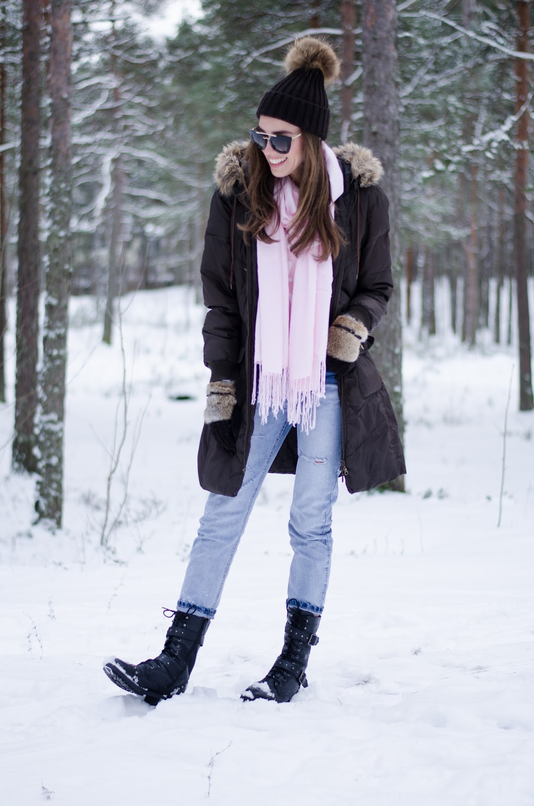 warm winter snow outfit