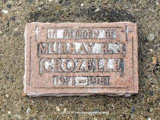 Murray R Grozelle gravemarker