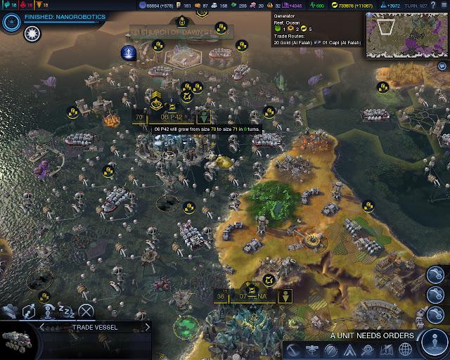 Civilization: Beyond Earth  | 70 City Population screenshot