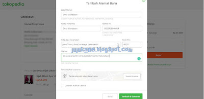 tutorial dropship di tokopedia