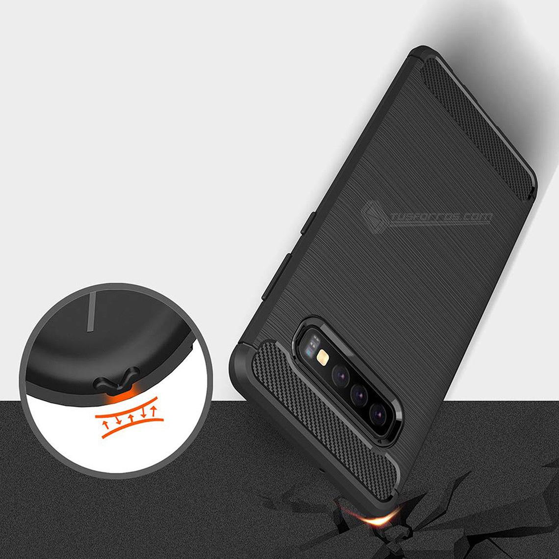 Samsung Galaxy S10 Plus Forro Fibra De Carbono Anti-Shock Máxima Protección