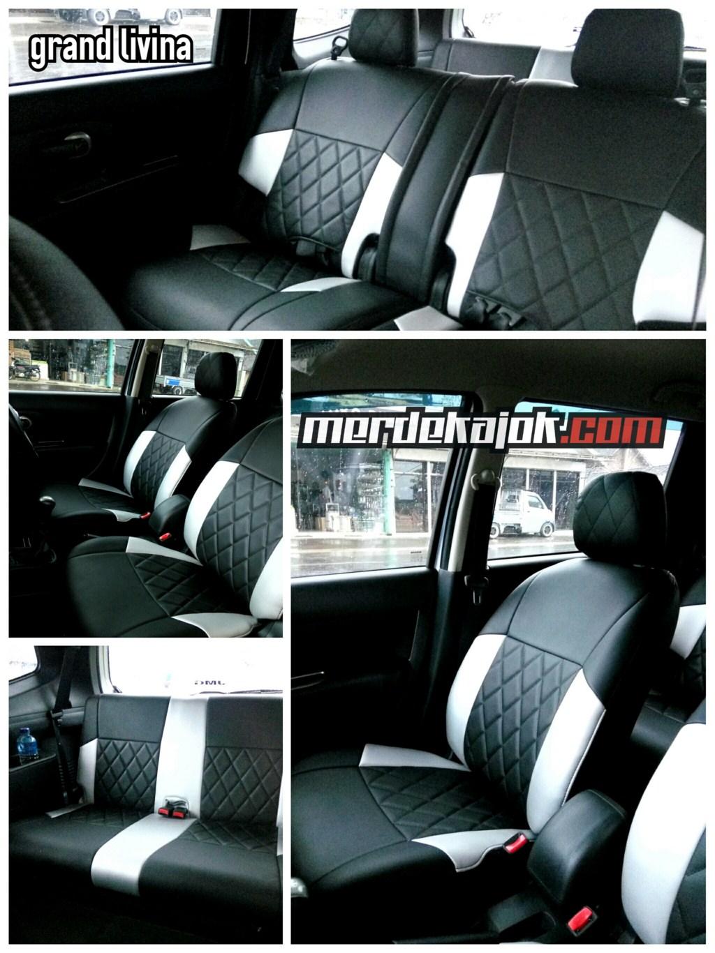 GRAND LIVINA cover jok black vs silver Jok Mobil