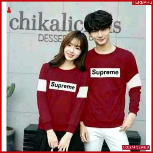 AKC274K36 Kaos Couple Pasangan Anak 274K36 Baju Supreme BMGShop