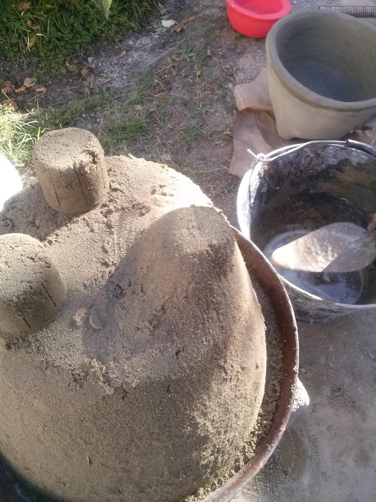 Molde para hacer maceta chica paso a paso - Macetas de cemento ...