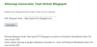 Sitemap Generator Untuk Blogspot