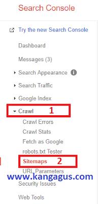 Gambar ilustrasi dashboard search console