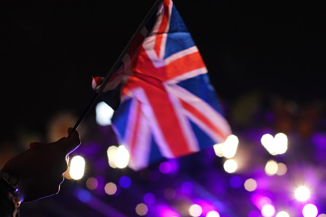 Union Jack flag at Proms in the Park, London - UK lifestyle blog