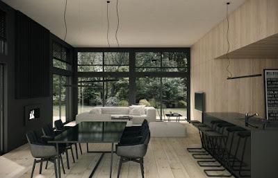 Desain Ruang Tamu dan Ruang Keluarga Menyatu