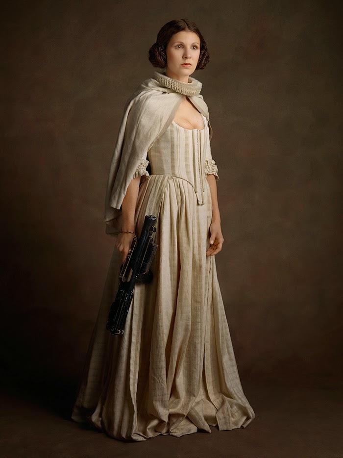 princesa Lea com vestido do século 16
