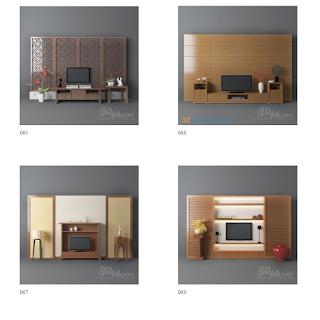 3dsMax高精度50套電視幕牆3D模型下載
