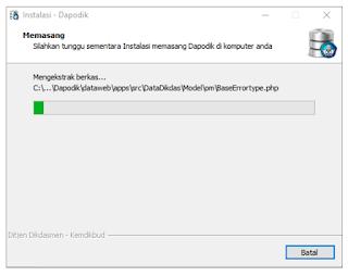 Cara install Dapodik 2019 c