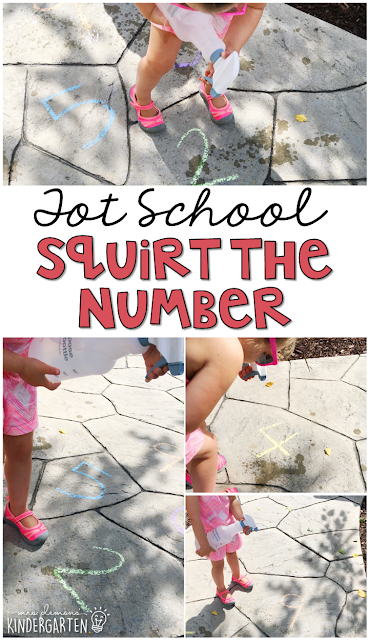 Learning is more fun when it involves movement! Learn numbers with this Chicka Chicka 123 Squirt the Number Activity. Great for tot school, preschool, or even kindergarten!