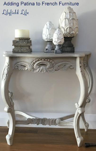 Adding patina to painted furniture for a french look by Lilyfield Life