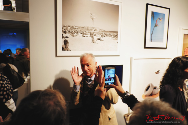 Jon Lewis, exhibititor - Final show at Stills Gallery. Street Fashion Sydney by Kent Johnson.