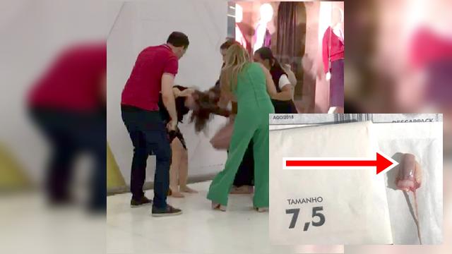 Vídeo: Mulher tem dedo decepado em briga com outra mulher em shopping em JP