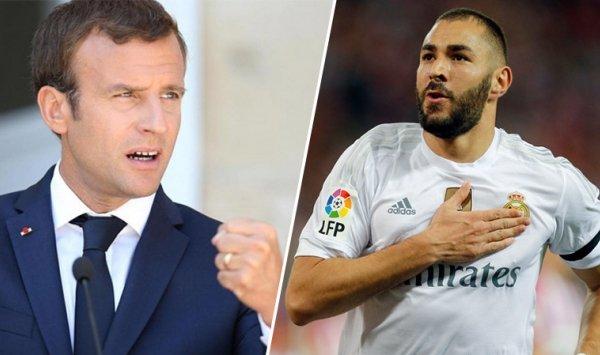 الرئيس الفرنسي ماكرو يدعم ديشان مدرب المنتخب الفرنسي في ابعاد كريم بن زيما عن الديوك 2018