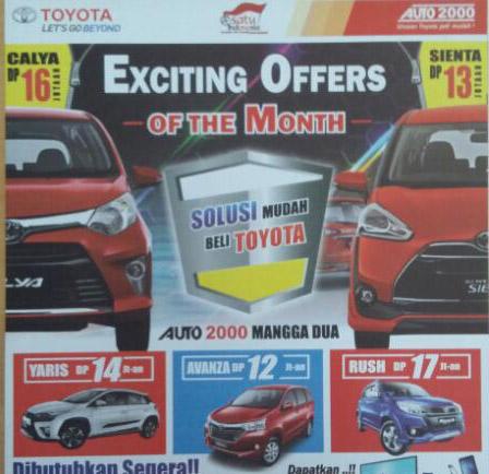 Promo Toyota Jayakarta