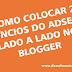 Como colocar 2 anúncios do adsense lado a lado no blogger