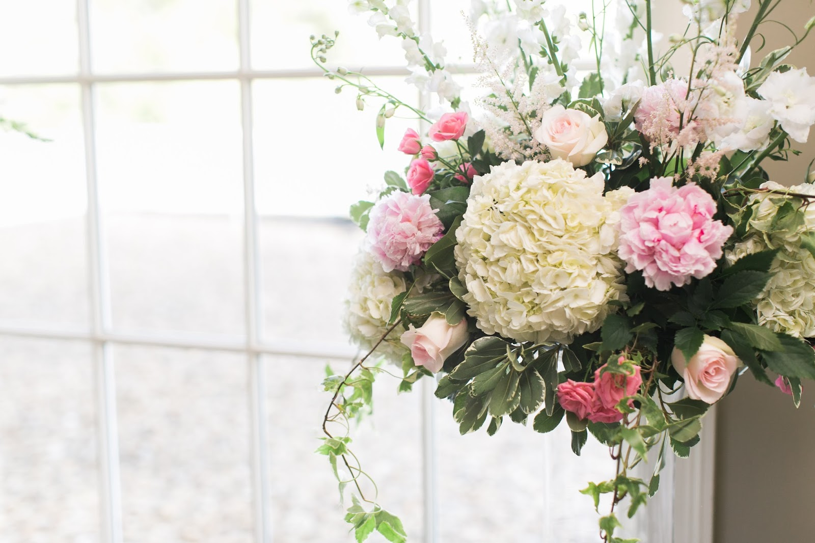 May Wedding Flowers: Blush, White And Soft Green : Ruth