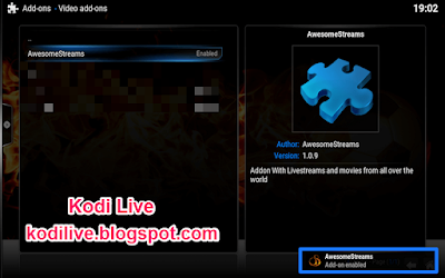How To Install Awesome Streams Addon For Kodi Xbmc