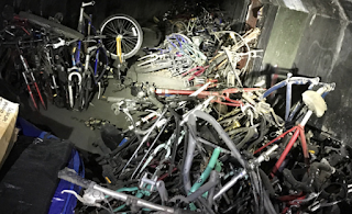 A half-loaded gun, a well-built bunker and 1,000 hidden bikes found along Santa Ana River