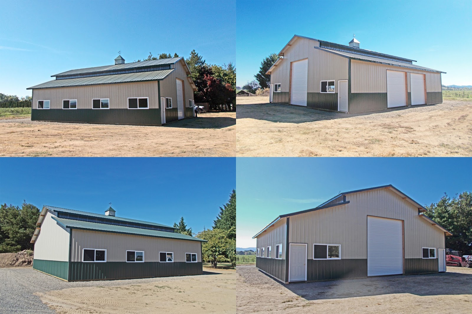 48 39 x 48 39 monitor style pole buildings with 12 39 16 39 and for Monitor style pole barn
