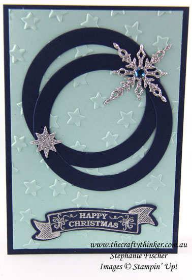 #thecraftythinker, Stampin Up, Christmas Card, Starlight Thinlits, Sliding Star Framelits, Xmas, Stampin Up Australia Demonstrator, Stephanie Fischer, Sydney NSW