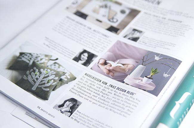 Ynas Design Blog | Brigitte Kreativ | Nadelkissen von Ynas Design Blog