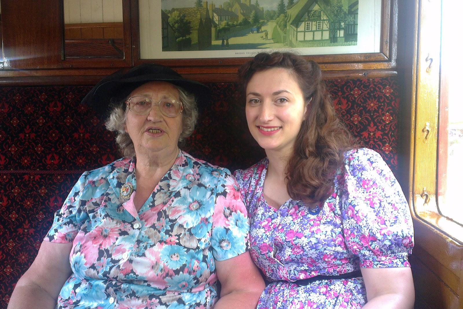 Havenstreet Railway 1940's weekend 2013 Mum and me
