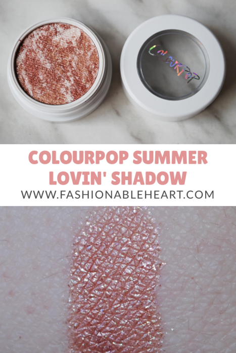 bbloggers, bbloggersca, canadian beauty bloggers, colourpop cosmetics, super shock shadow, tie dye, summer lovin, summer lovin', swatch, rose gold