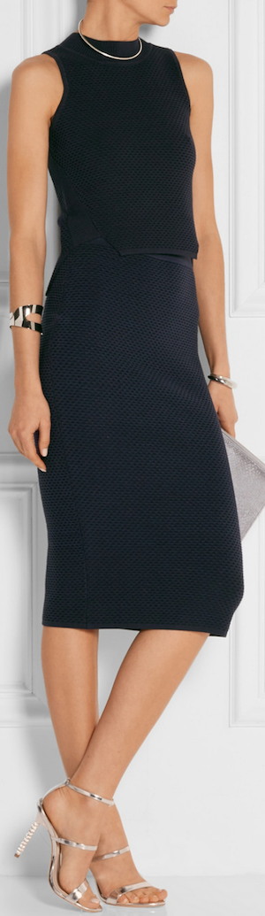 JONATHAN SIMKHAI Textured Stretch-Knit Pencil Skirt