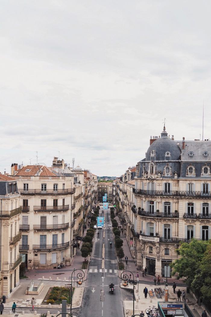 Vue sur Montpellier depuis l'arc de triomphe