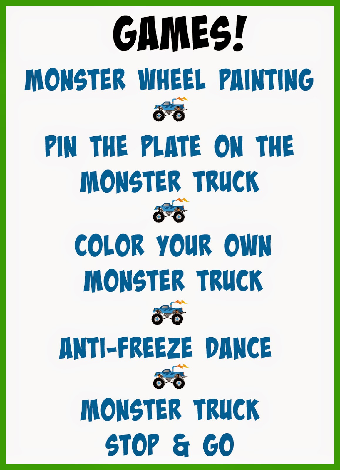 baking with blondie monster truck birthday party