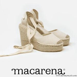 Queen Letizia wore a Macarena espadrille wedges