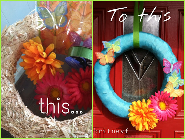 wreath, summer, spring, diy, how to