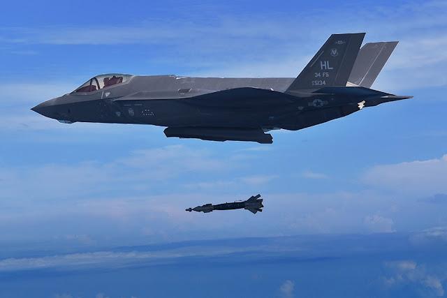 F-35A drops GBU-49 bomb