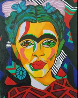 Frida Kahlo - Pintura de Cícera Dias