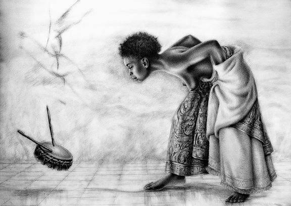 Nazaregi Art Dance with the drum   Reginald Nazaire