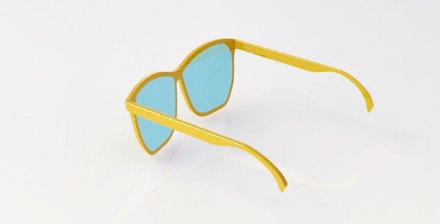 gafas de sol diseñadas con solidworks vistas desde atrás