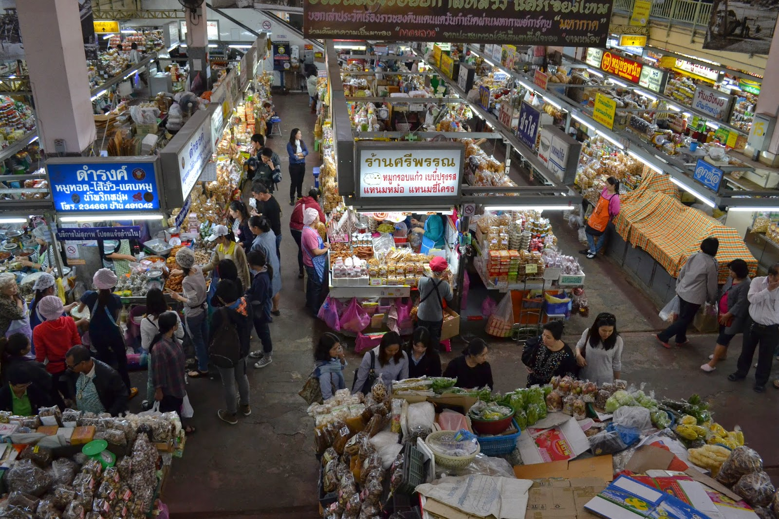 Chiang Mai, Thailande, voyage, marché, warorot market