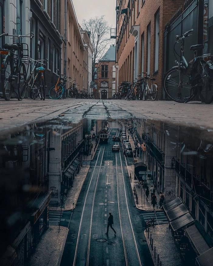 Dreamlike Photo Manipulations in Reflections of Water by Muhammad Zairul