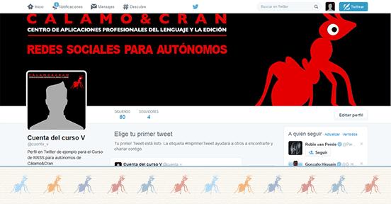 Crea tu perfil de empresa o marca en twitter con la guía del ejercicio 6