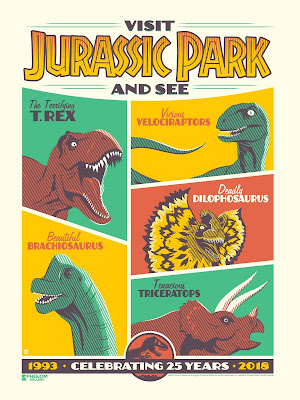 Jurassic Park 25th Anniversary Screen Print by Dave Perillo x Phenom Gallery