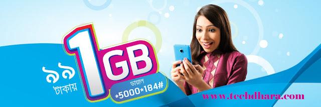 GP 1GB data at only 99 taka